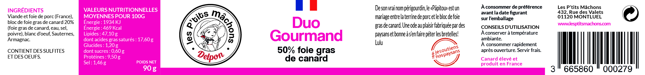 Duo Gourmand 90g